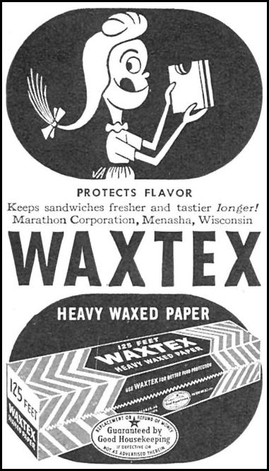 WAXTEX HEAVY WAXED PAPER WOMAN'S DAY 11/01/1946 p. 100