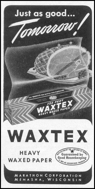 WAXTEX HEAVY WAXED PAPER WOMAN'S DAY 12/01/1948 p. 96