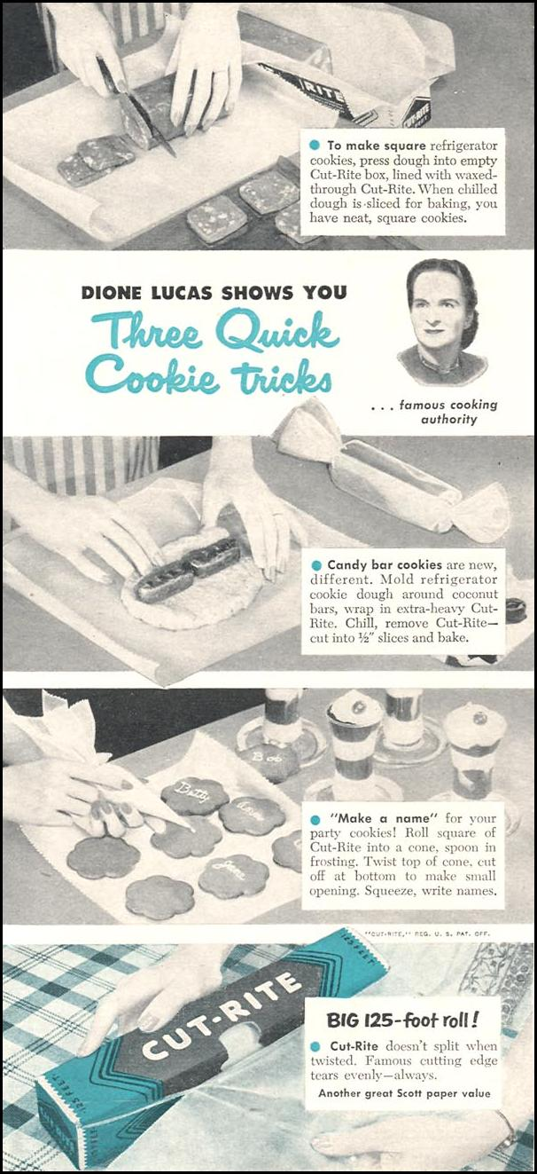 CUT-RITE WAXED PAPER WOMAN'S DAY 12/01/1954 p. 99