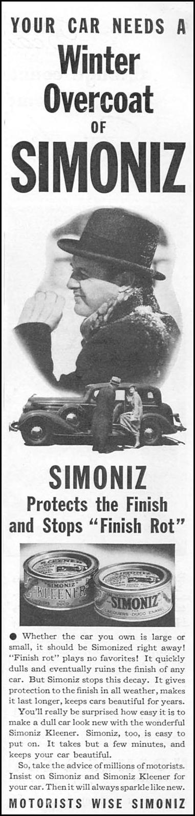 SIMONIZ CAR WAX GOOD HOUSEKEEPING 12/01/1934 p. 103
