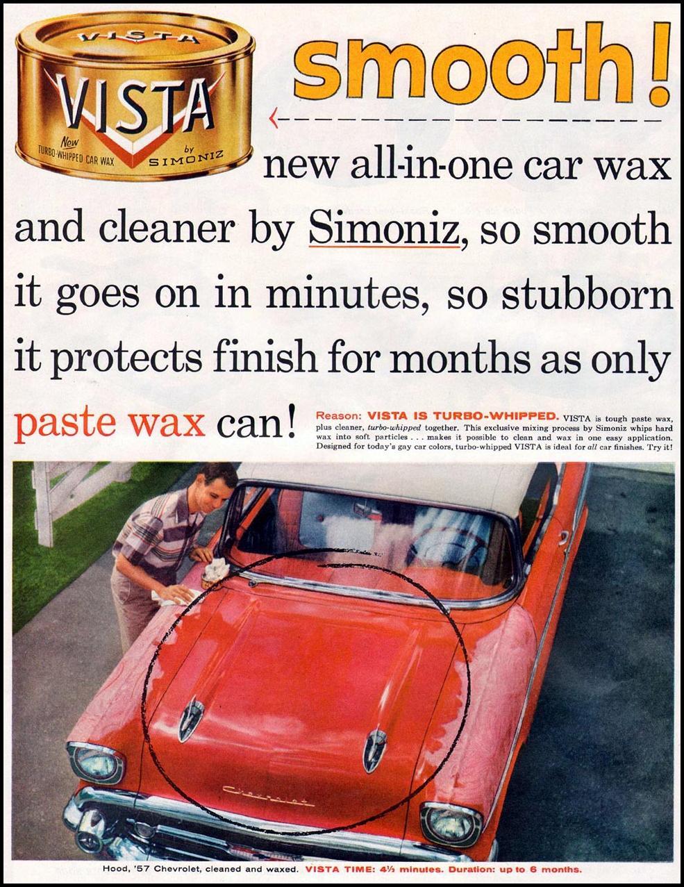 SIMONIZ VISTA CAR WAX LIFE 07/01/1957 p. 40