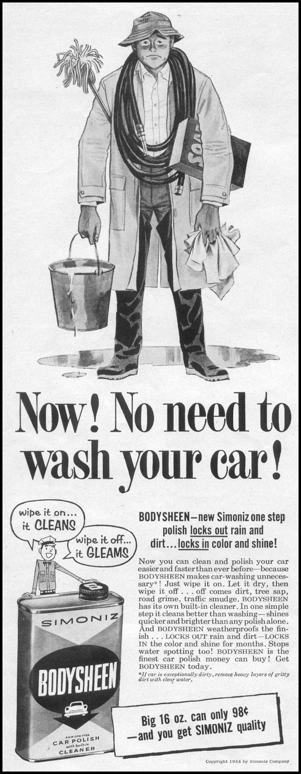 SIMONIZ BODYSHEEN CAR POLISH LIFE 07/12/1954 p. 60