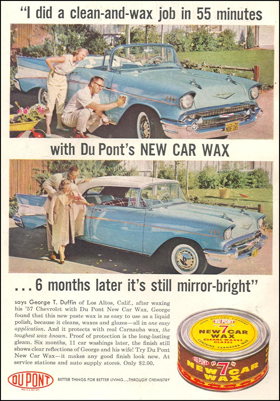 DU PONT NEW CAR WAX POPULAR SCIENCE 06/01/1958 INSIDE FRONT