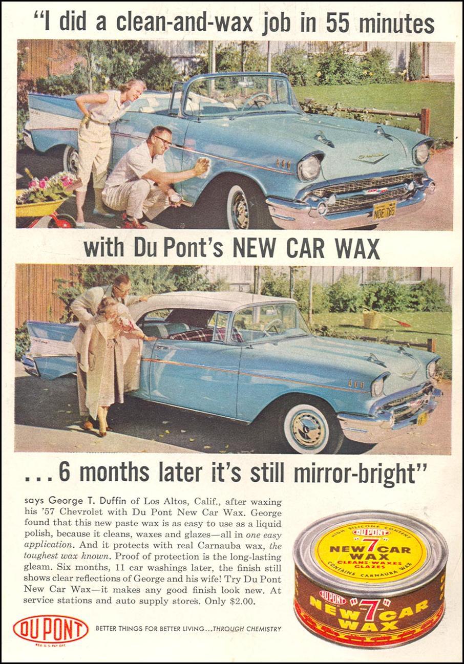 DU PONT NEW CAR WAX POPULAR SCIENCE 06/01/1958 INSIDE FRONT