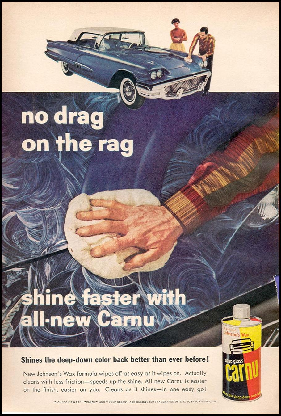 JOHNSON'S CARNU CAR WAX POPULAR SCIENCE 06/01/1958