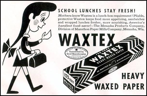 WAXTEX WAXED PAPER LIFE 11/30/1942 p. 138