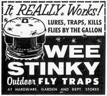 WEE STINKY OUTDOOR FLY TRAPS SATURDAY EVENING POST 07/23/1955 p. 101