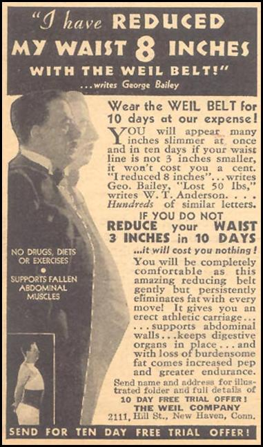 WEIL REDUCING BELT LIBERTY 11/28/1936 p. 40