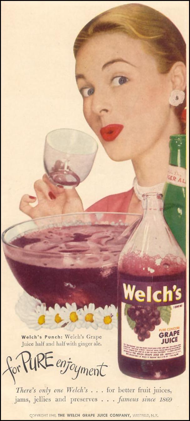 WELCH'S GRAPE JUICE GOOD HOUSEKEEPING 07/01/1948 p. 224