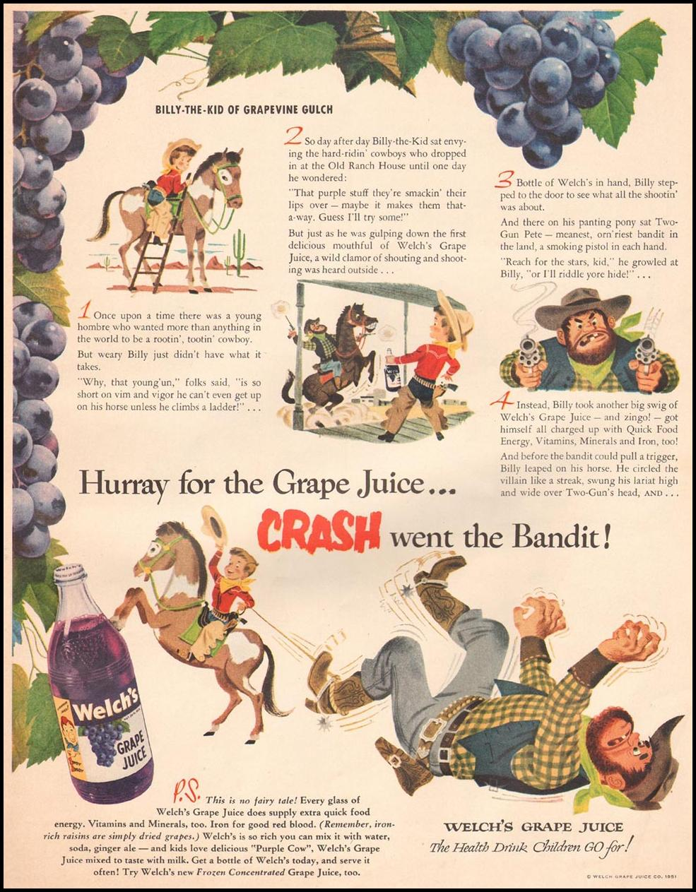 WELCH'S GRAPE JUICE LIFE 07/02/1951 p. 83