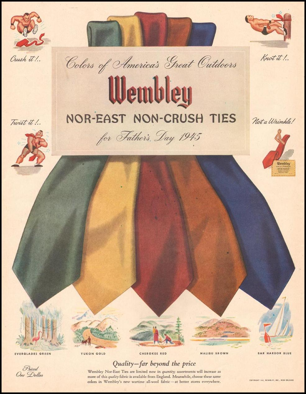 WEMBLEY NOR-EAST NON-CRUSH TIES LIFE 06/04/1945