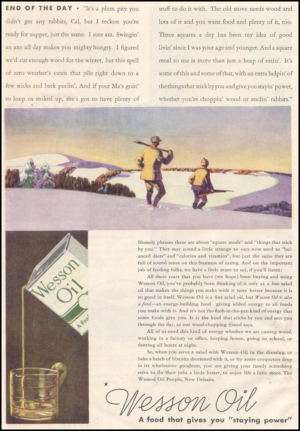 WESSON OIL GOOD HOUSEKEEPING 03/01/1935