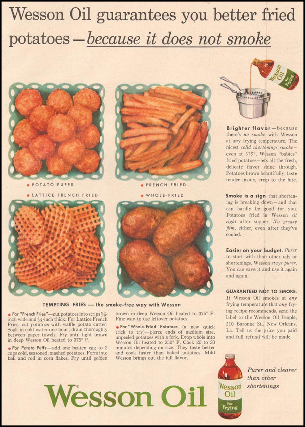 WESSON OIL GOOD HOUSEKEEPING 05/01/1957 p. 153