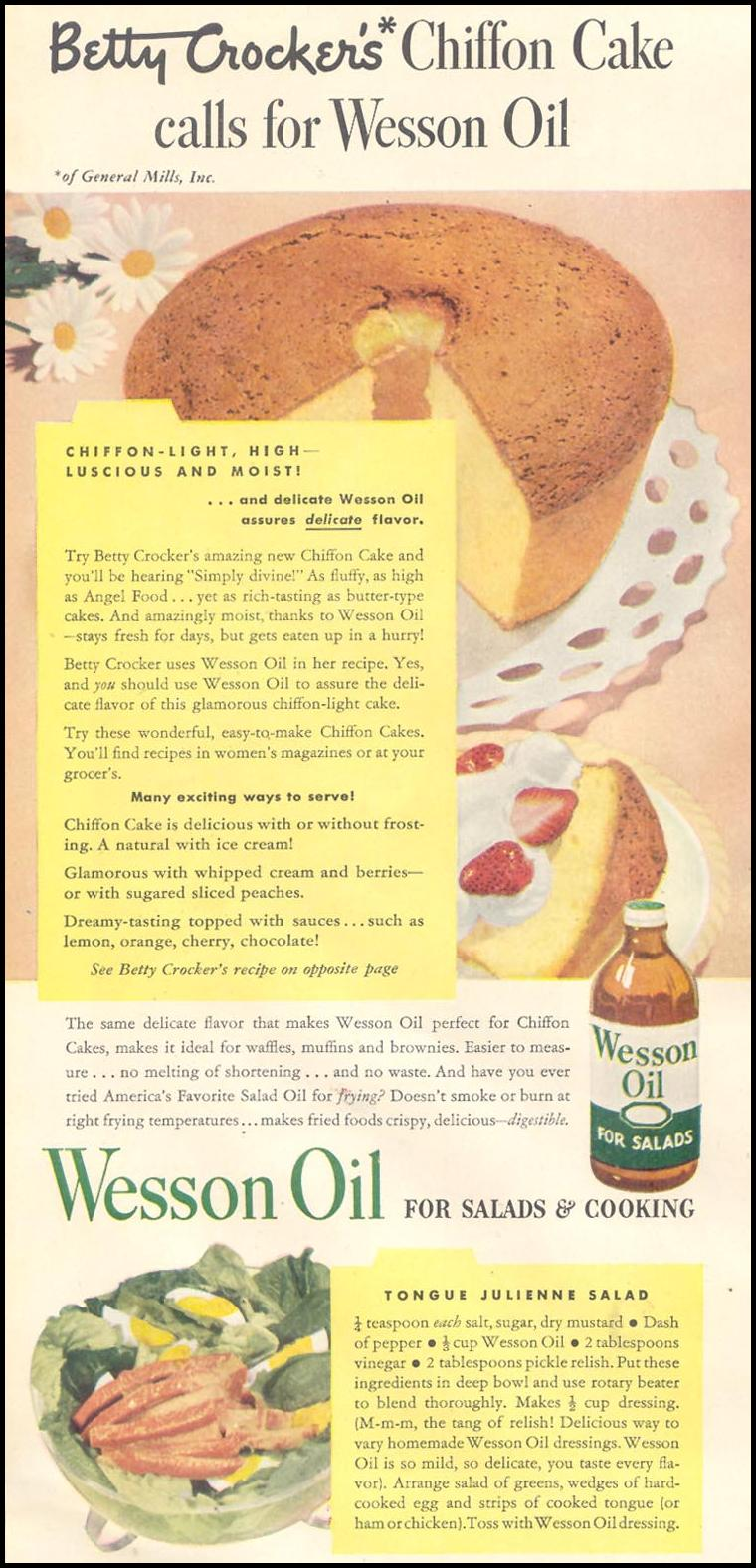 WESSON OIL GOOD HOUSEKEEPING 07/01/1948 p. 162