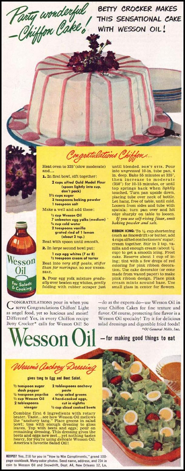 WESSON OIL LADIES' HOME JOURNAL 07/01/1949 p. 84