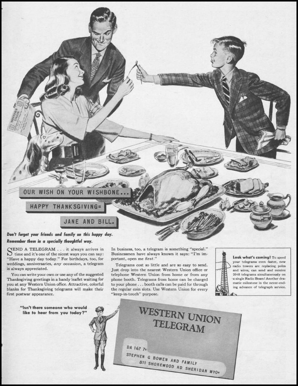 TELEGRAM SERVICE LIFE 11/25/1946 p. 151