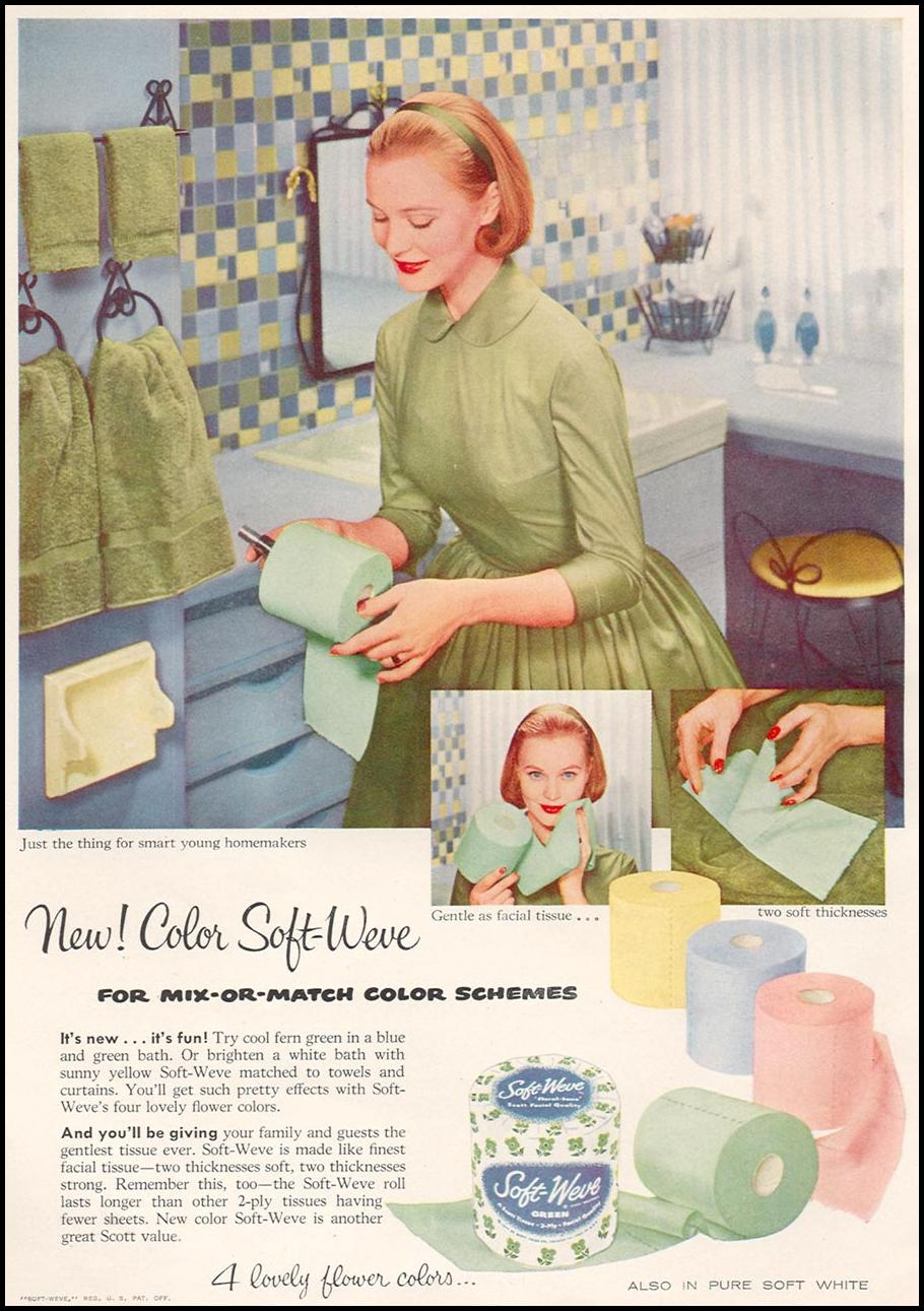 SOFT-WEVE BATHROOM TISSUE WOMAN'S DAY 04/01/1956