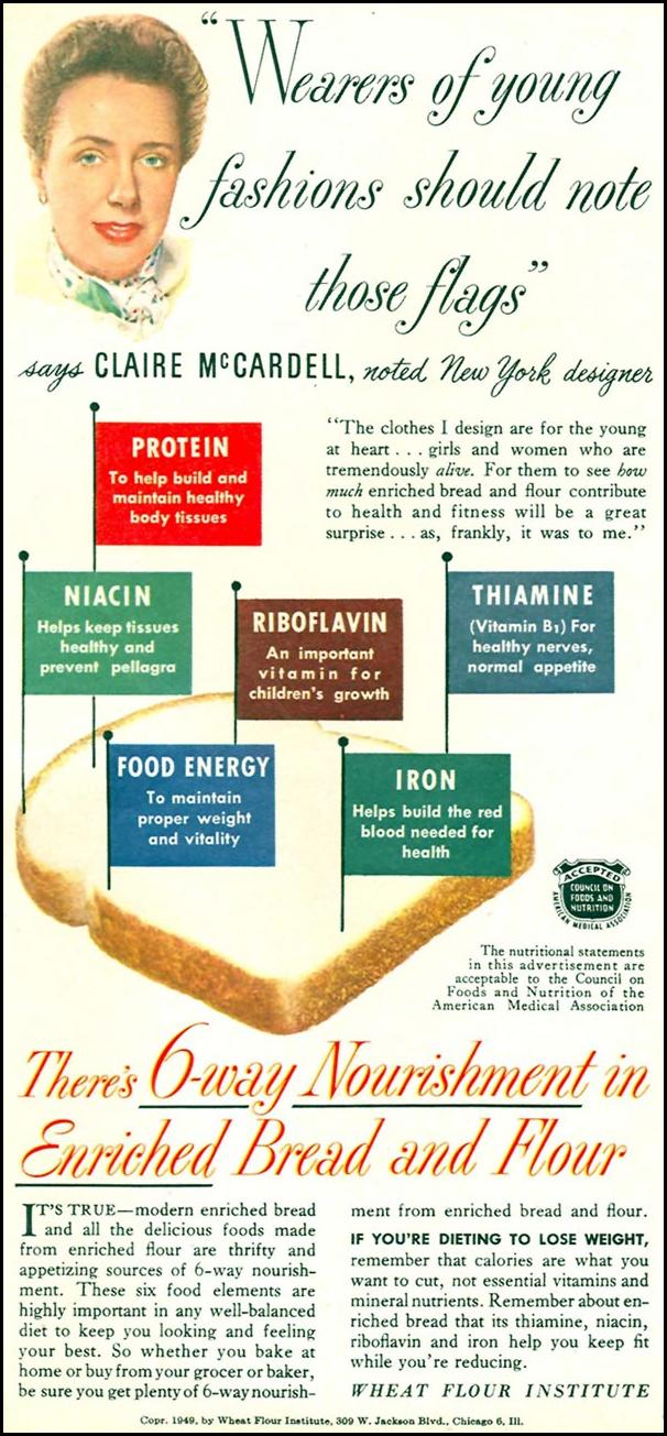 ENRICHED BREAD AND FLOUR WOMAN'S DAY 09/01/1949 p. 10
