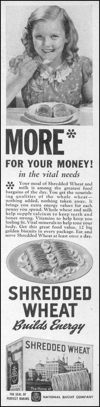 SHREDDED WHEAT WOMAN'S DAY 11/01/1938 p. 1