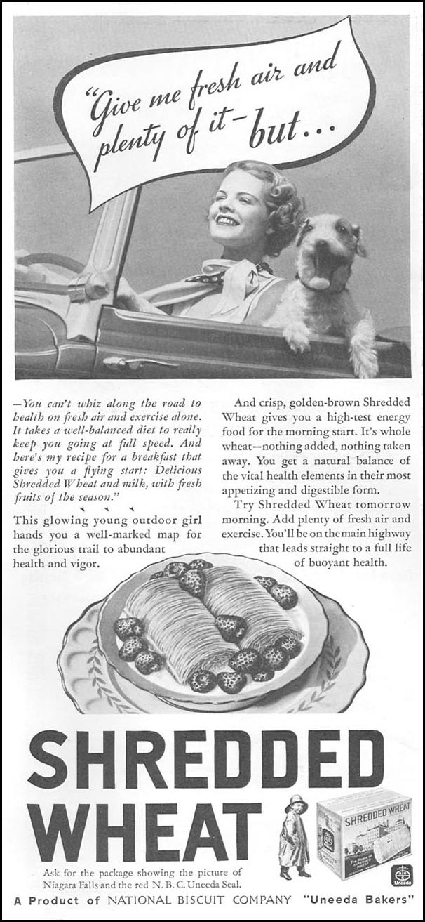 UNEEDA BAKERS SHREDDED WHEAT GOOD HOUSEKEEPING 06/01/1935 p. 166