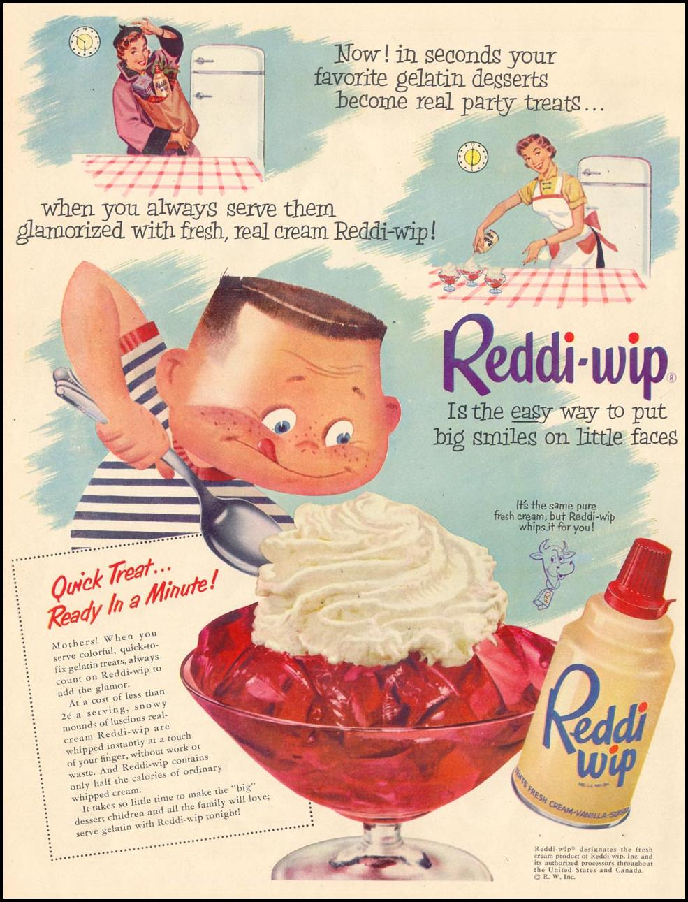 REDDI-WIP WHIPPED CREAM LIFE 04/13/1953 p. 122