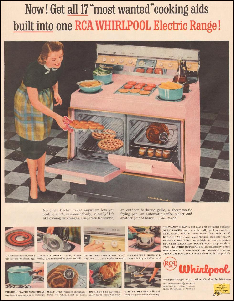 WHIRLPOOL ELECTRIC RANGE LIFE 04/01/1957 p. 127