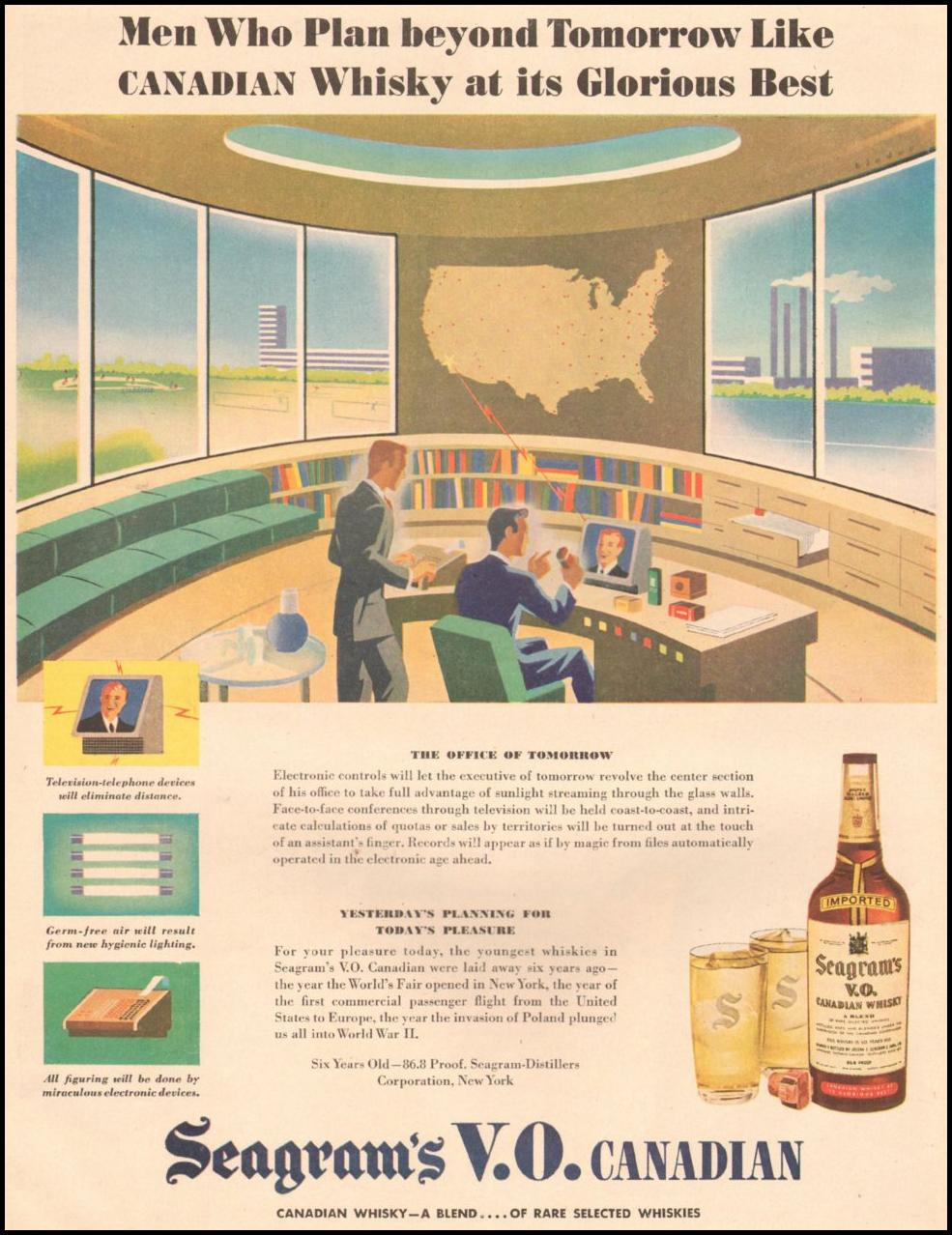 SEAGRAM'S V. O. CANADIAN WHISKEY LIFE 03/12/1945