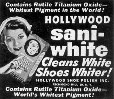HOLLYWOOD SANI-WHITE SHOE POLISH LIFE 07/30/1951 p. 76