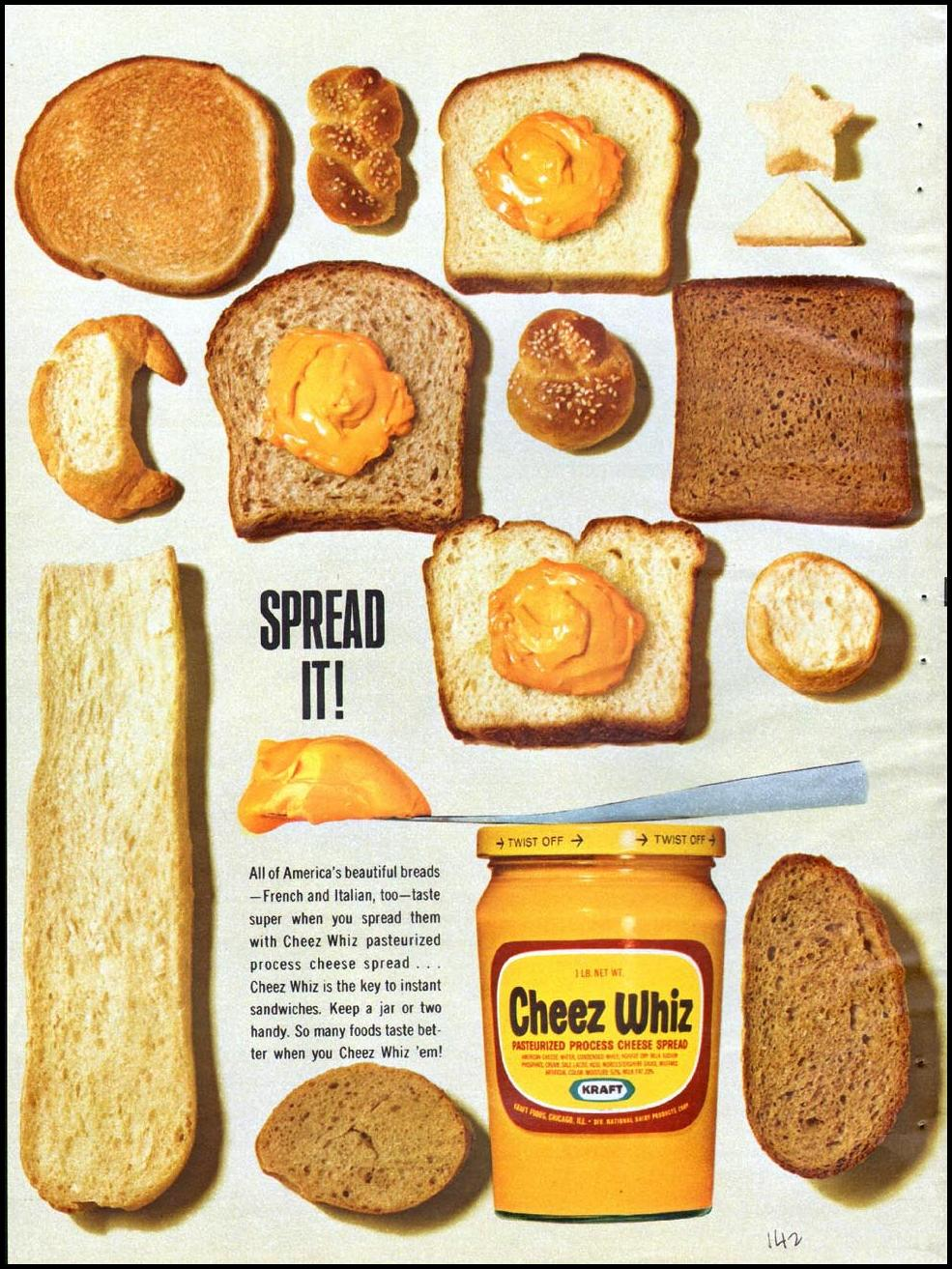 CHEEZ WHIZ GOOD HOUSEKEEPING 10/01/1965 p. 142