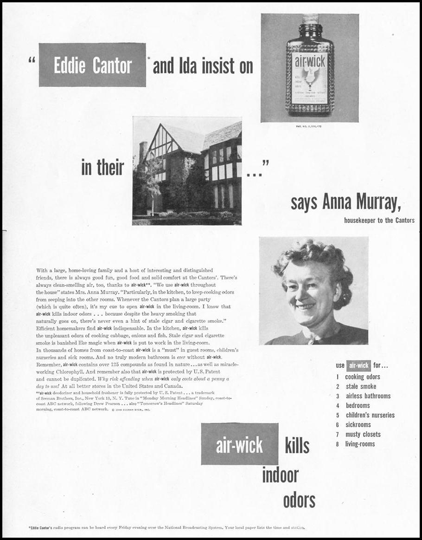 AIR-WICK DEODORIZER LIFE 10/11/1948 p. 110