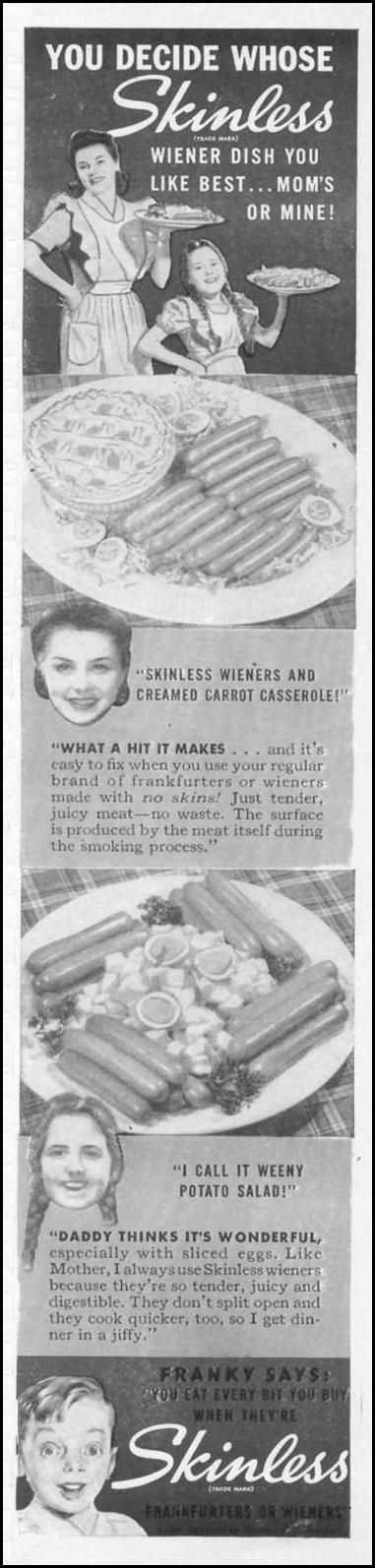 SKINLESS FRANKS WOMAN'S DAY 05/01/1941 p. 3