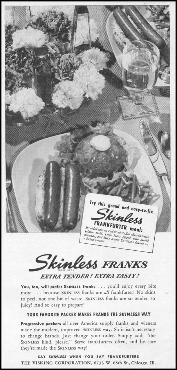 SKINLESS FRANKS WOMAN'S DAY 06/01/1946 p. 59