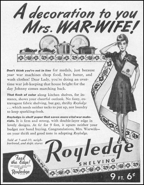 ROYLEDGE SHELVING WOMAN'S DAY 05/01/1943 p. 71