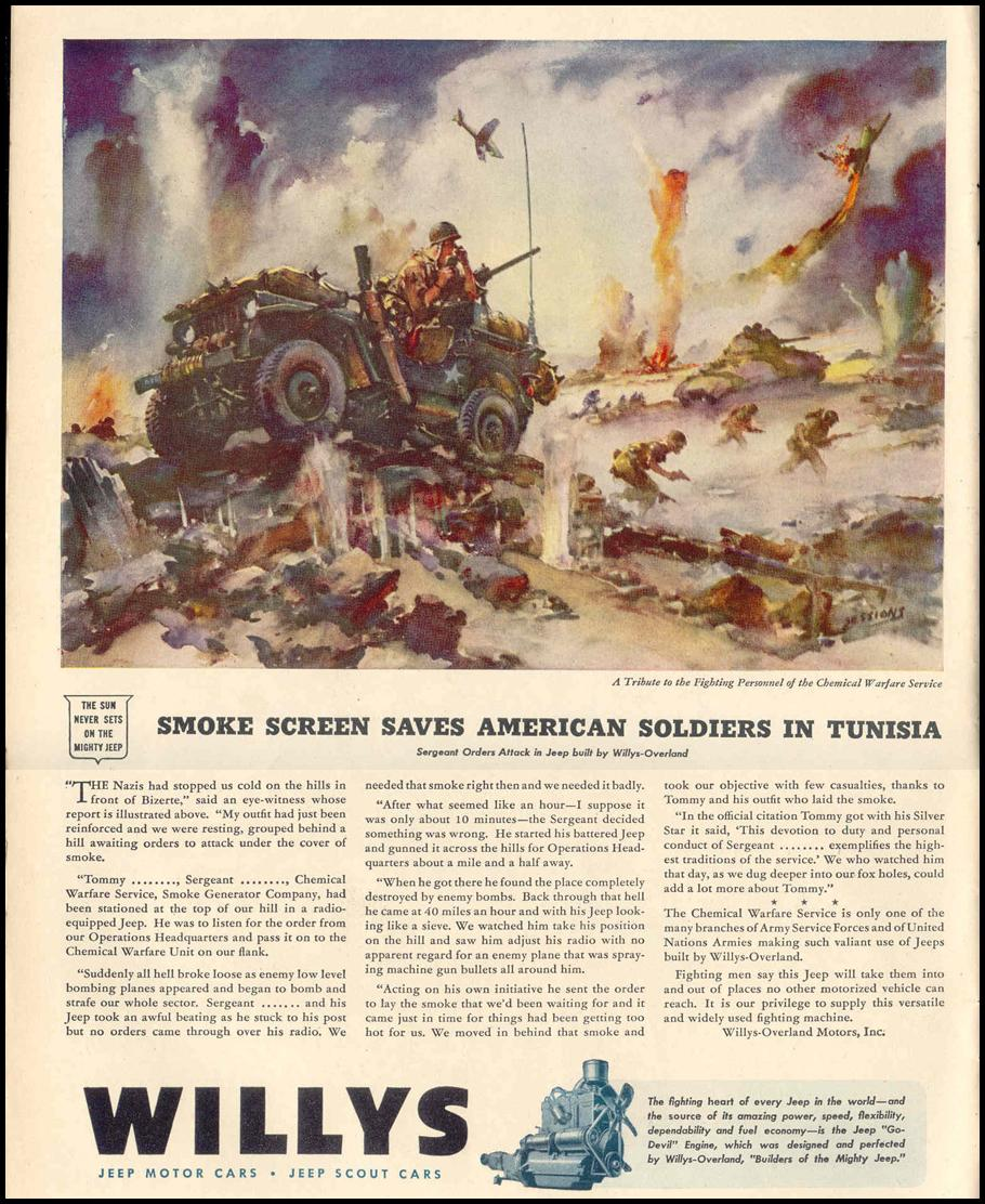 WILLYS JEEPS LIFE 02/14/1944 p. 86