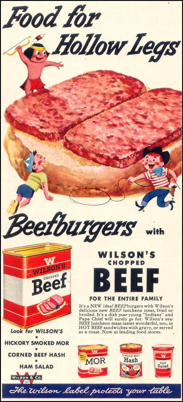 WILSON'S CHOPPED BEEF WOMAN'S DAY 03/01/1954 p. 63