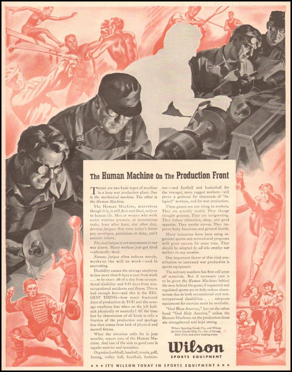 WILSON SPORTS EQUIPMENT LIFE 06/22/1942 p. 57