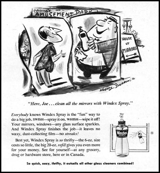WINDEX SPRAY WINDOW CLEANER FAMILY CIRCLE 01/01/1956 p. 45