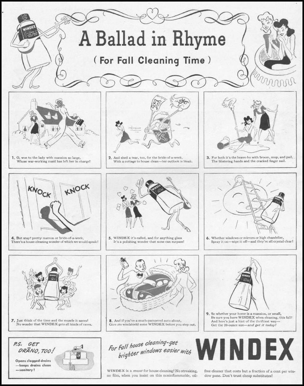 WINDEX WINDOW CLEANER LIFE 10/25/1943 p. 75