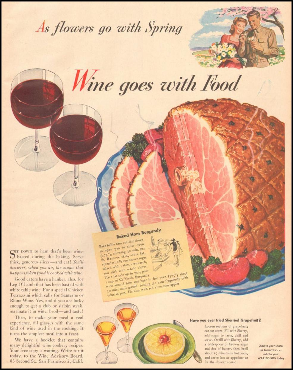 CALIFORNIA WINES LIFE 03/12/1945