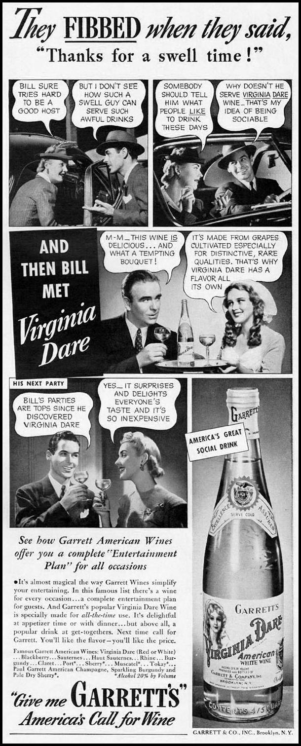 VIRGINIA DARE WINE LIFE 09/29/1941 p. 99