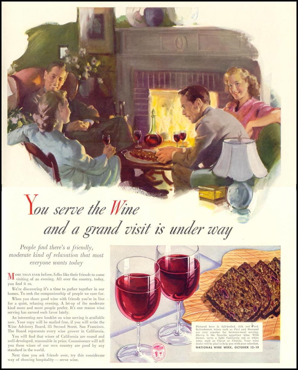CALIFORNIA WINES LIFE 10/13/1941