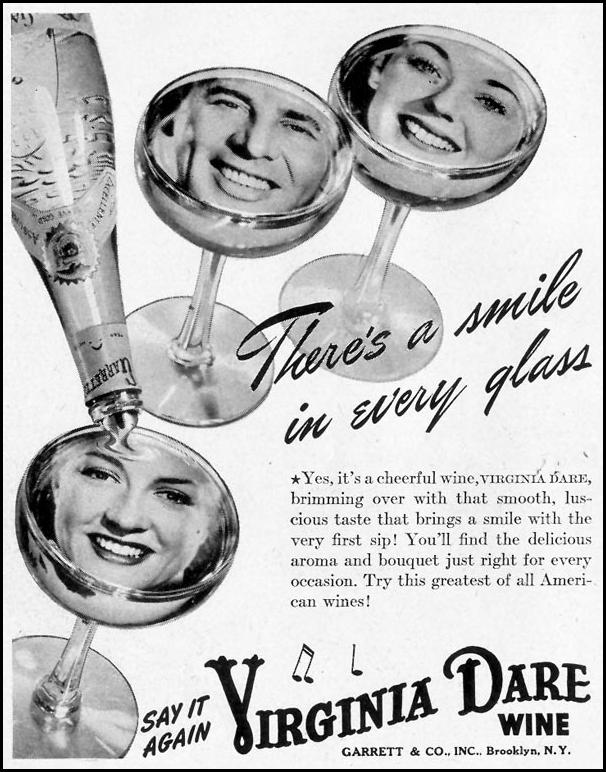 VIRGINIA DARE WINE LIFE 11/08/1943 p. 128