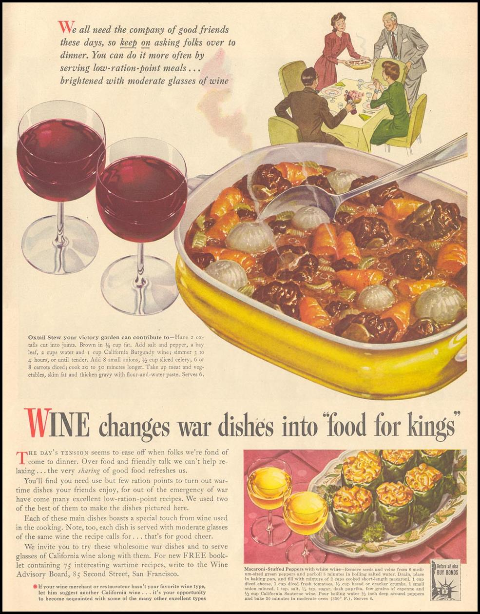 CALIFORNIA WINES LIFE 11/08/1943