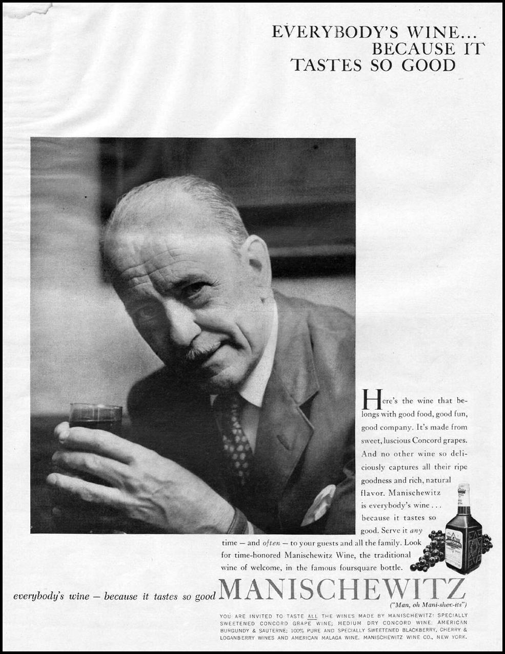 MANISCHEWITZ WINE LIFE 11/24/1957 p. 143