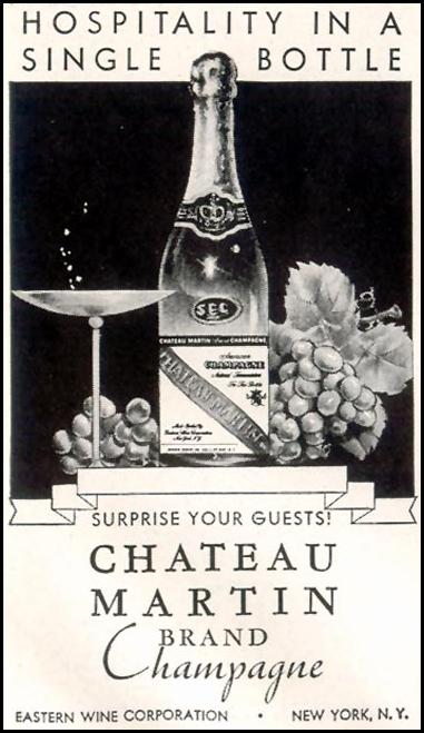 CHATEAU MARTIN CHAMPAGNE LIFE 11/30/1942 p. 124