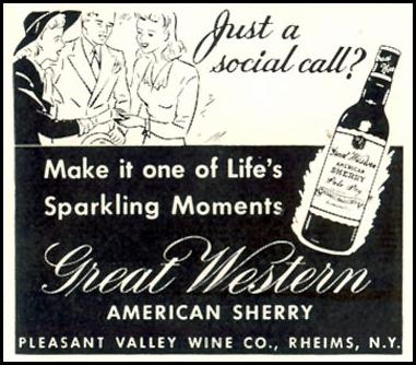GREAT WESTERN AMERICAN SHERRY LIFE 11/30/1942 p. 138