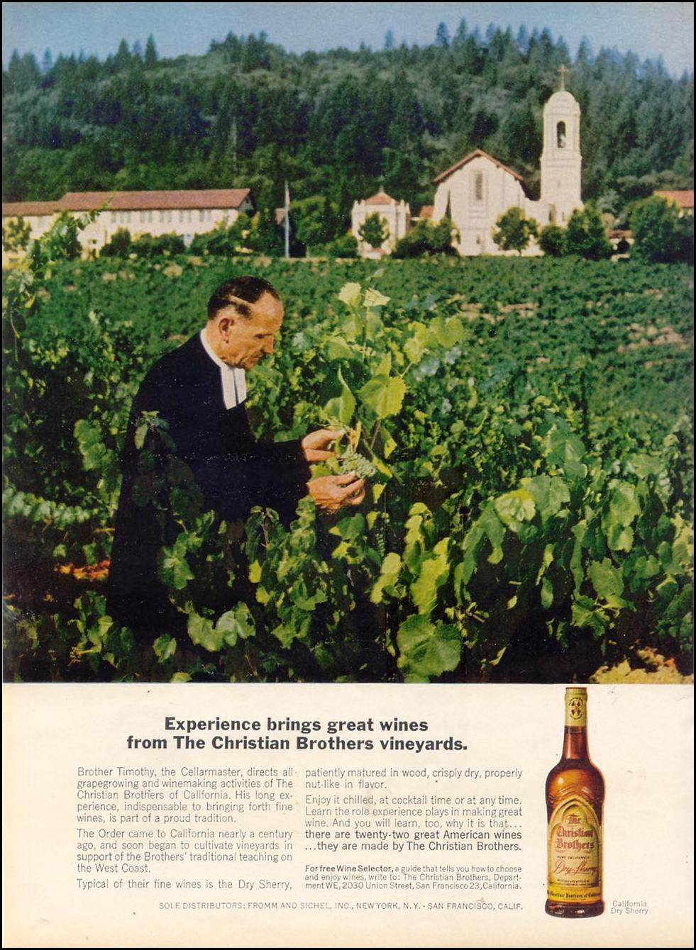CHRISTIAN BROTHERS WINES TIME 10/25/1963 p. 52