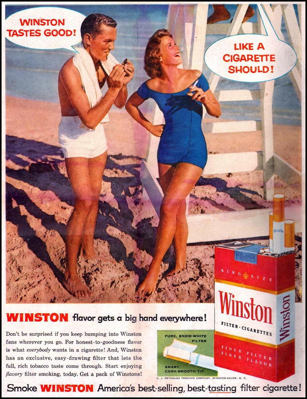 WINSTON CIGARETTES LIFE 06/24/1957 BACK COVER