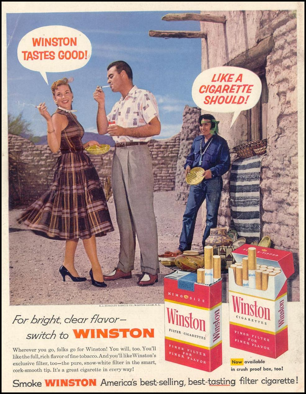 WINSTON CIGARETTES LIFE 11/11/1957 BACK COVER