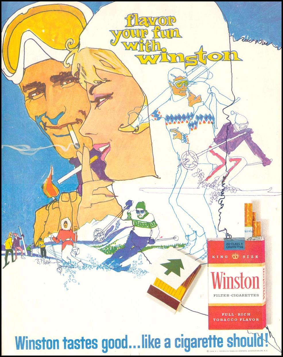 WINSTON CIGARETTES SATURDAY EVENING POST 01/25/1969